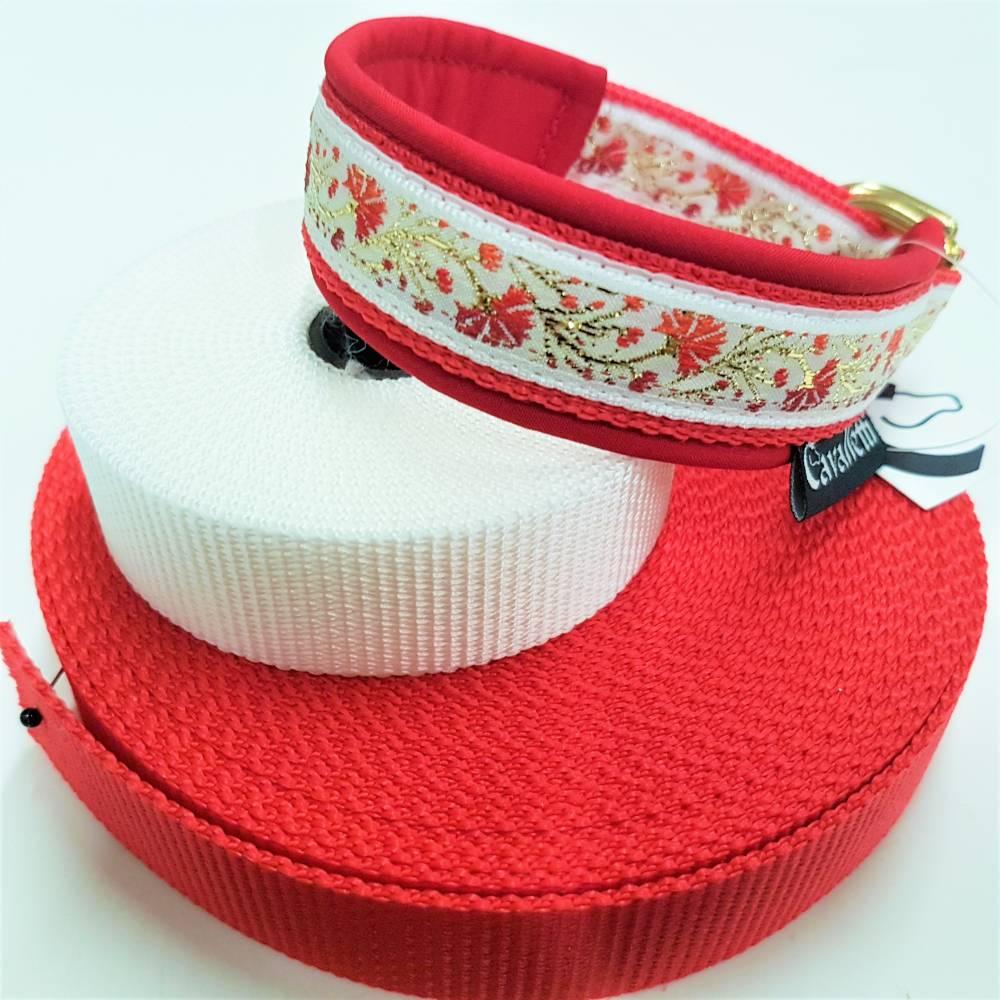 """Hundehalsband """"Lilly"""" ~ Größe 30cm mit Zugstopp. Halsbandmanufaktur Cavalletti-4Dogs Bild 1"""