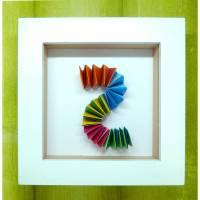 Bunte Hexentreppe // Minibild 10 x 10 cm zum Aufstellen oder Hängen  Bild 1