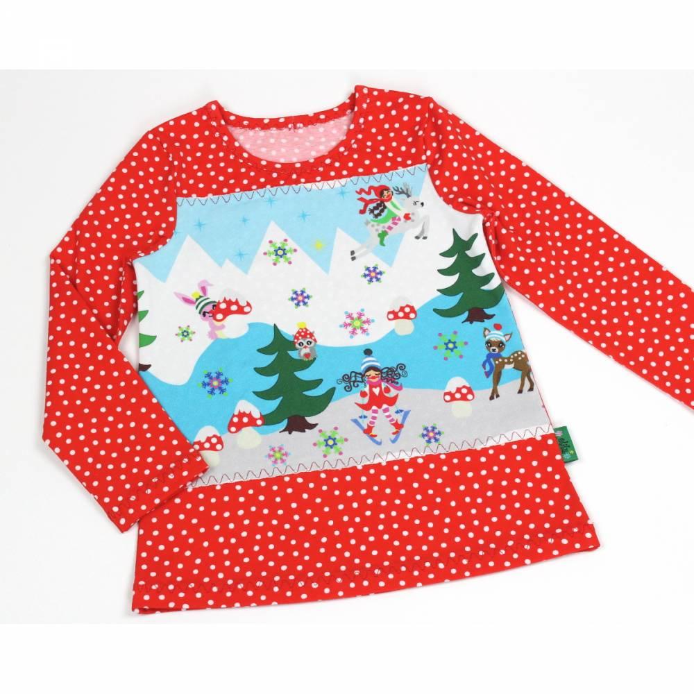 Langarmshirt 98/104 Jersey Shirt -Milli Winterwunderland- Bild 1
