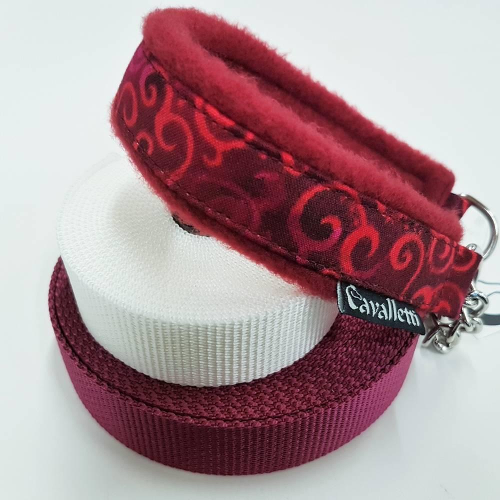 """Hundehalsband """"Wirbelwind Rot"""" ~ Größe 42 cm mit Zugstopp. Halsbandmanufaktur Cavalletti-4Dogs Bild 1"""