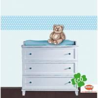 ECO Kinderbordüre: Herzchen - viele Farben - 15 cm Höhe Bild 1