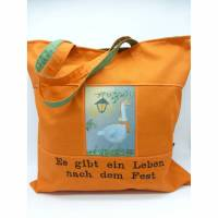 Einkaufstasche 'die Weihnachtsgans' für Vegetarier, Veganer und Freunde der Gänse und Enten Bild 1