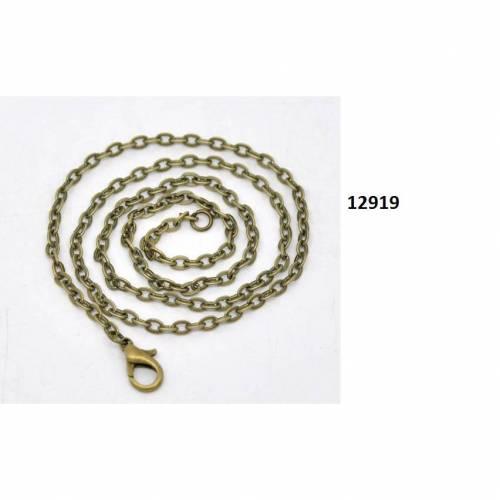 1 oder 12 Kette,41cm, Halskette, Gliederkette, , bronzefarben
