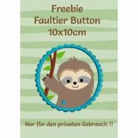 Freebie -Kostenlose Stickdatei Faultierbutton 10x10cm Bild 1