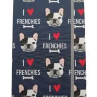 """Notizbuch A5 Hardcover stoffbezogen Französische Bulldogge """"I love Frenchies"""" Geschenk Geschenkartikel Frenchie Geschenkidee Bild 2"""