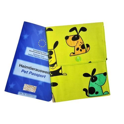 """Impfpasshülle / Heimtierpasshülle """"Hundchen"""" ~ für 2 Impfpässe * personalisierbar. Halsbandmanufaktur Cavalletti-4Dogs Bild 1"""