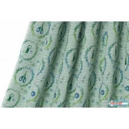 Lillestoff Nähfee, grün-meliert, Jersey Bild 1