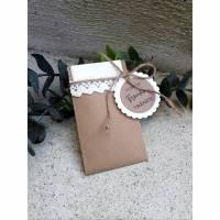5 x Papiertüte f. Taschentücher für die Freudentränen Kraft vintage Spitze Hochzeit Bild 1