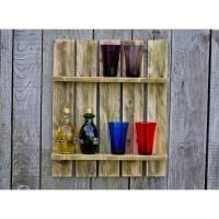 Palettenholz, Regal, Regal für Vasen, Wandregal aus Palette,Palettenmöbel, Holz, wohnen, deko, Holzregal, Bild 1