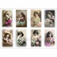 Bügelbild, Bügelbilder, Bügelfolie, Motivbogen No 42 für deine eigenen Werke im Shabby / Vintage Stil Bild 1