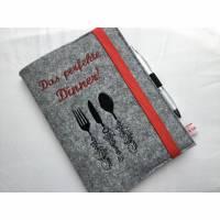 Rezeptbuch aus Filz A5 Bild 1