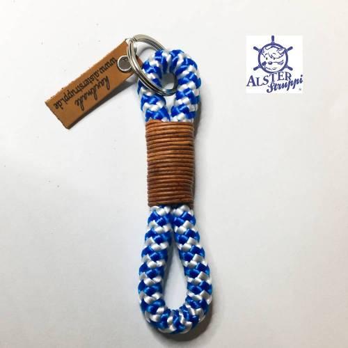 Schlüsselanhänger blau weiß von AlsterStruppi