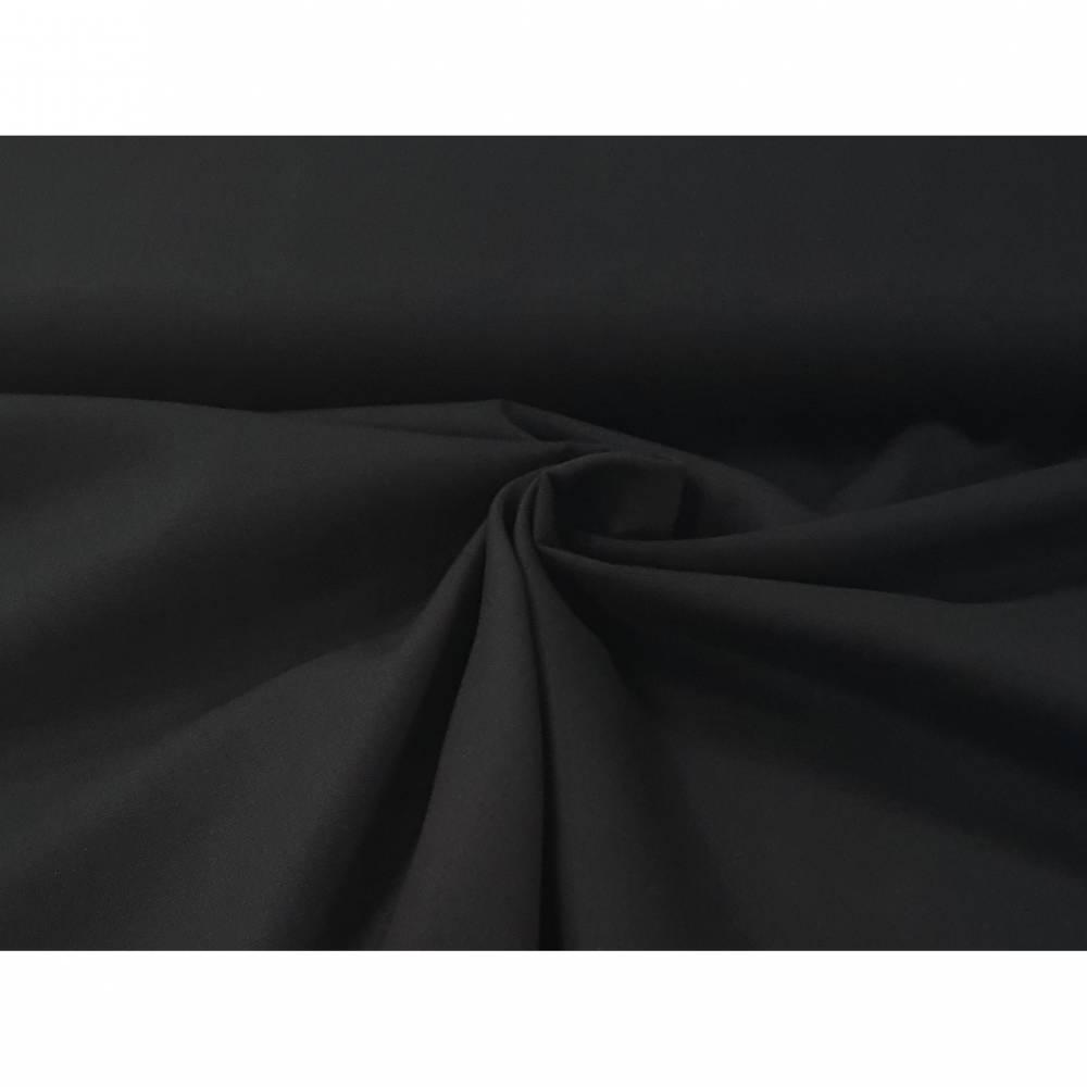 Canvas, Baumwolle uni - 022 - schwarz Bild 1