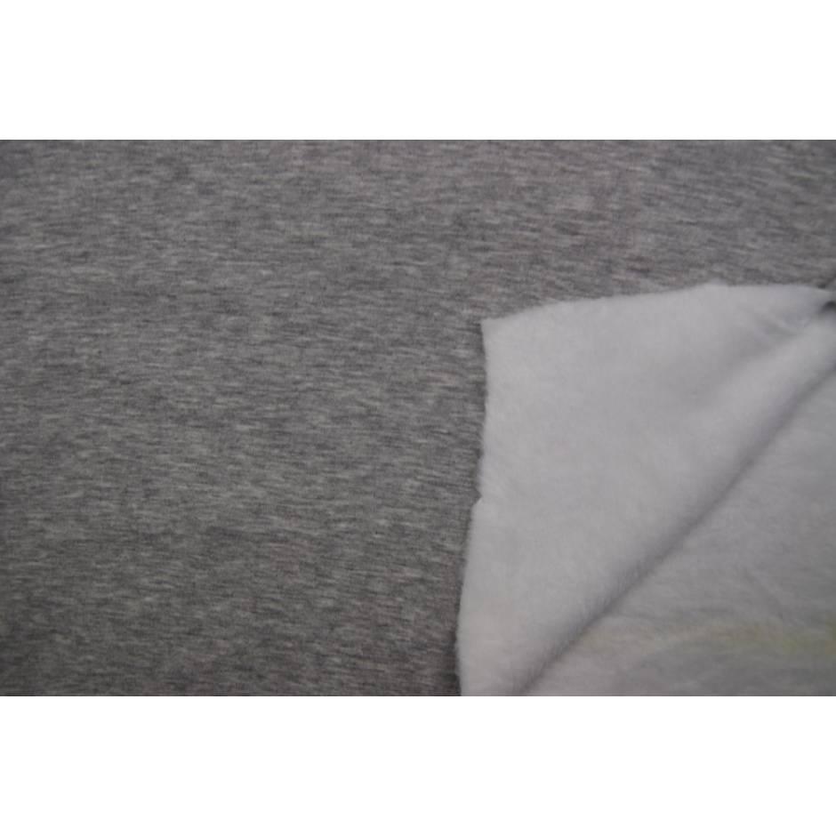 Alpenfleece Sweat Melange hellgrau meliert Oeko-Tex® Standard 100(1m/13,- €)  Bild 1