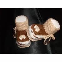 Babyschuhe gestrickt, Babyschühchen, Babysocken *flotter Flitzer* Bild 1