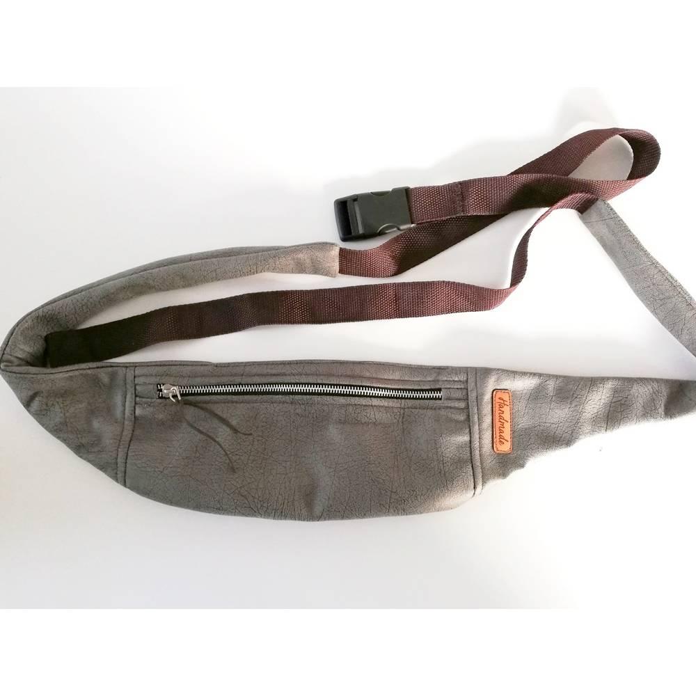 Hüfttasche, Gürteltasche, Bauchtasche grau Antik, Handmade Bild 1