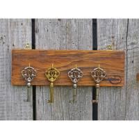 Schlüsselbrett aus Palettenholz, Hakenleiste, Handtuchhalter, Schlüssebrett,Palettenmöbel Bild 1