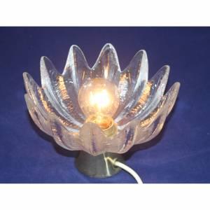 60er Jahre Glas Lampe in Blütenform