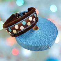 """Hundehalsband """"Pünktchen"""" ~ Größe 35 cm mit Zugstopp. Halsbandmanufaktur Cavalletti-4Dogs Bild 1"""