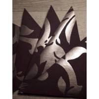 6 Spitztüten in Violett & Silber mit floralem Motiv ... Bild 1
