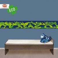 ECO Kinderbordüre: Saurier - Dark Shadow - 18 cm Höhe Bild 1
