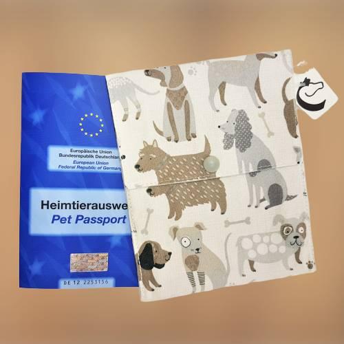 "Impfpasshülle / Heimtierpasshülle ""Dogs"" ~ für 2 Impfpässe * personalisierbar. Halsbandmanufaktur Cavalletti-4Dogs Bild 1"