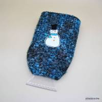 Eiskratzer Handschuh mit aufgesticktem Motiv SCHNEEMANN Bild 1
