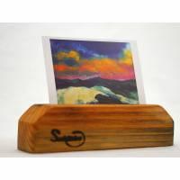 Postkartenständer, nachhaltig, Fotoständer, Holz, Altholz, Bilderhalter, Deko, Foto Bild 1