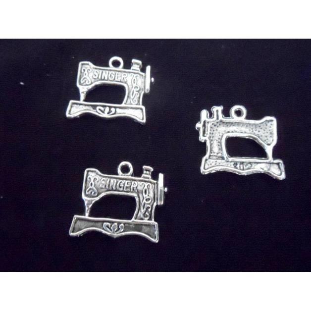 Schmuckanhänger Nähmaschine antiksilber  1 Stk. Bild 1