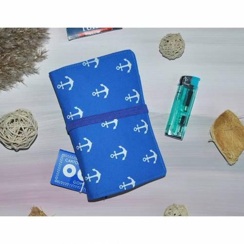 Tabaktasche - Tasche für Rauchzubehör - Zubehör für Raucher - Maritim Anker