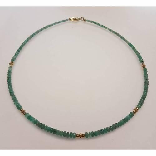 Klassisches Collier aus echtem Smaragd