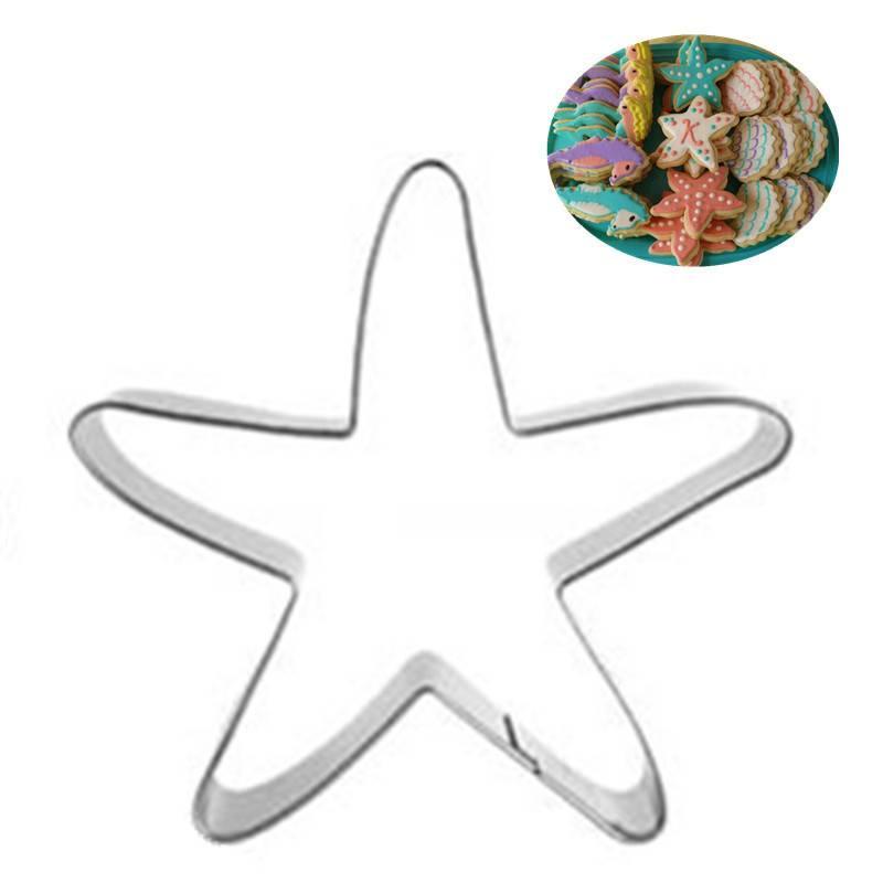 Ausstechform Stern, Seestern, Edelstahl, Plätzchen, Form für Gebäck, backen, Formen,84x74 mm  Bild 1