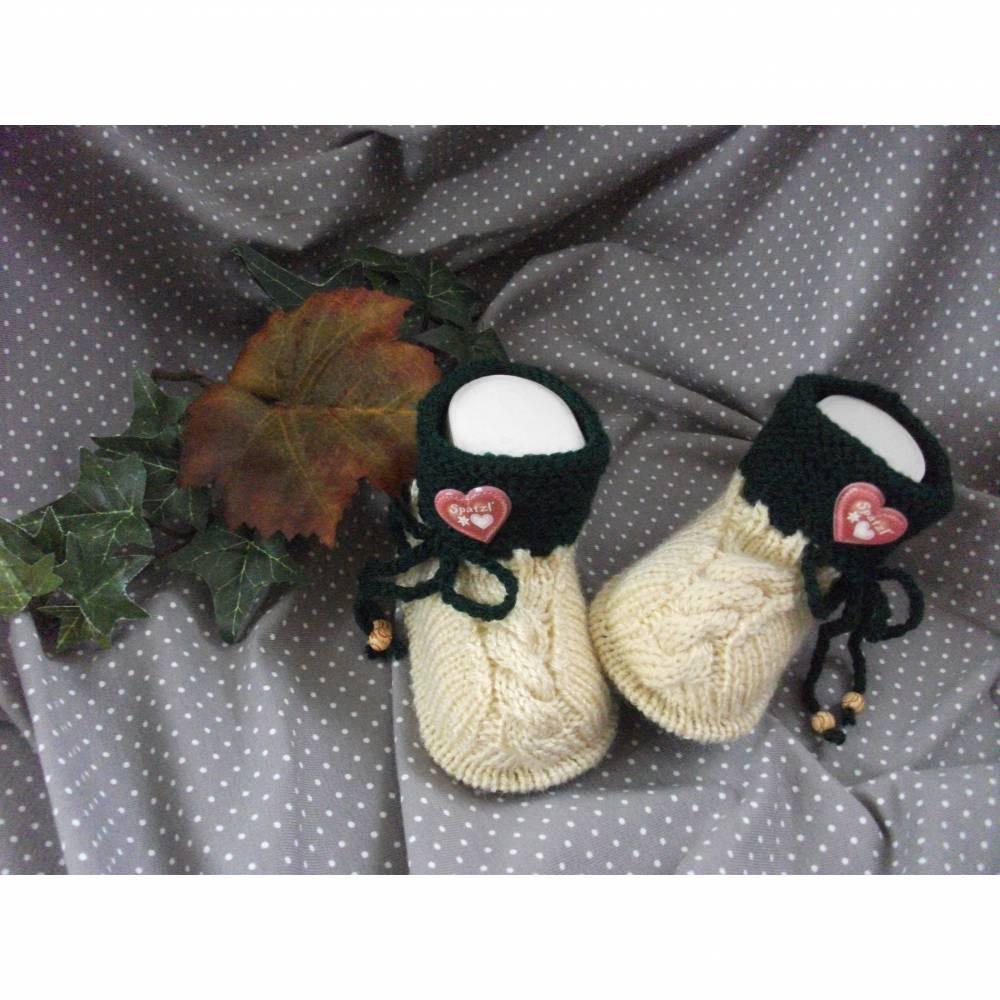 Babyschuhe gestrickt, Babyschühchen, Babysocken *Oktoberfest* Bild 1