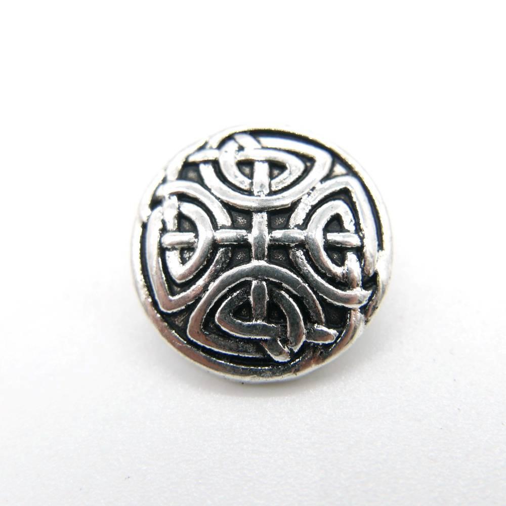 Metllknöpfe, keltisch mit Linien, 2 Stück Bild 1