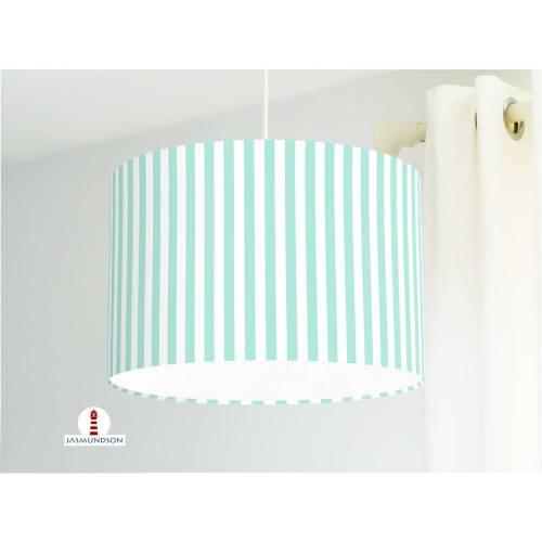 Lampe Schlafzimmer Streifen in Mint aus Baumwollstoff - alle Farben möglich
