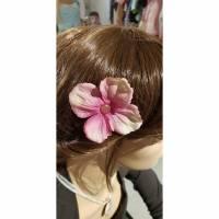 Haarclip/ Haarnadel Blume ' Rosa ' Bild 1