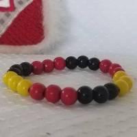 Armband - Farben rot, schwarz und gelb Bild 1
