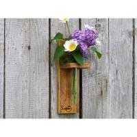 Ausgefalle Vase aus Palettenholz, Wanddekoration, nachhaltige Geschenkidee, moderne Blumendekoration, Weihnachtsgeschenk Bild 1