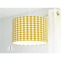 Lampe Kinderzimmer Wellen Muster in Senfgelb aus Baumwollstoff - alle Farben möglich Bild 1