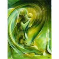 """Original Acrylbild """"Erzengel Raphael"""" Bild 1"""