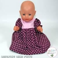 Puppen Outfit - Kleid in Beere Bild 1