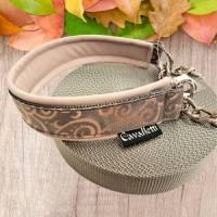 """Hundehalsband """"Wirbelwind Grau"""" ~ Größe 46 cm mit Zugstopp. Halsbandmanufaktur Cavalletti-4Dogs Bild 1"""