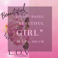 "Jersey Panel ""Beautiful Girl""  Bild 1"