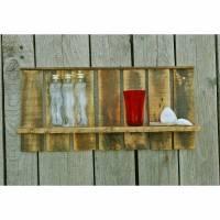 Palettenmöbel, Regal zum Aufhängen, Bord, Regal aus Palettenholz, Regal, DIY, Upcycling, Wohnraum Bild 1