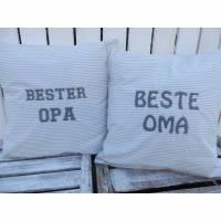 Kissenbezug / Dekokissen / Sofakissen / Kuschelkissen * Beste Oma oder Bester Opa * Maße: 40x40cm Bild 1