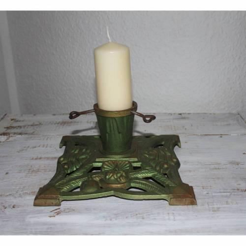 Vintage Christbaumständer Kerzenhalter