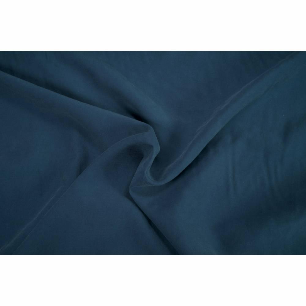 Viskose Webstoff Stone washed preußisch blau 0,5m Bild 1