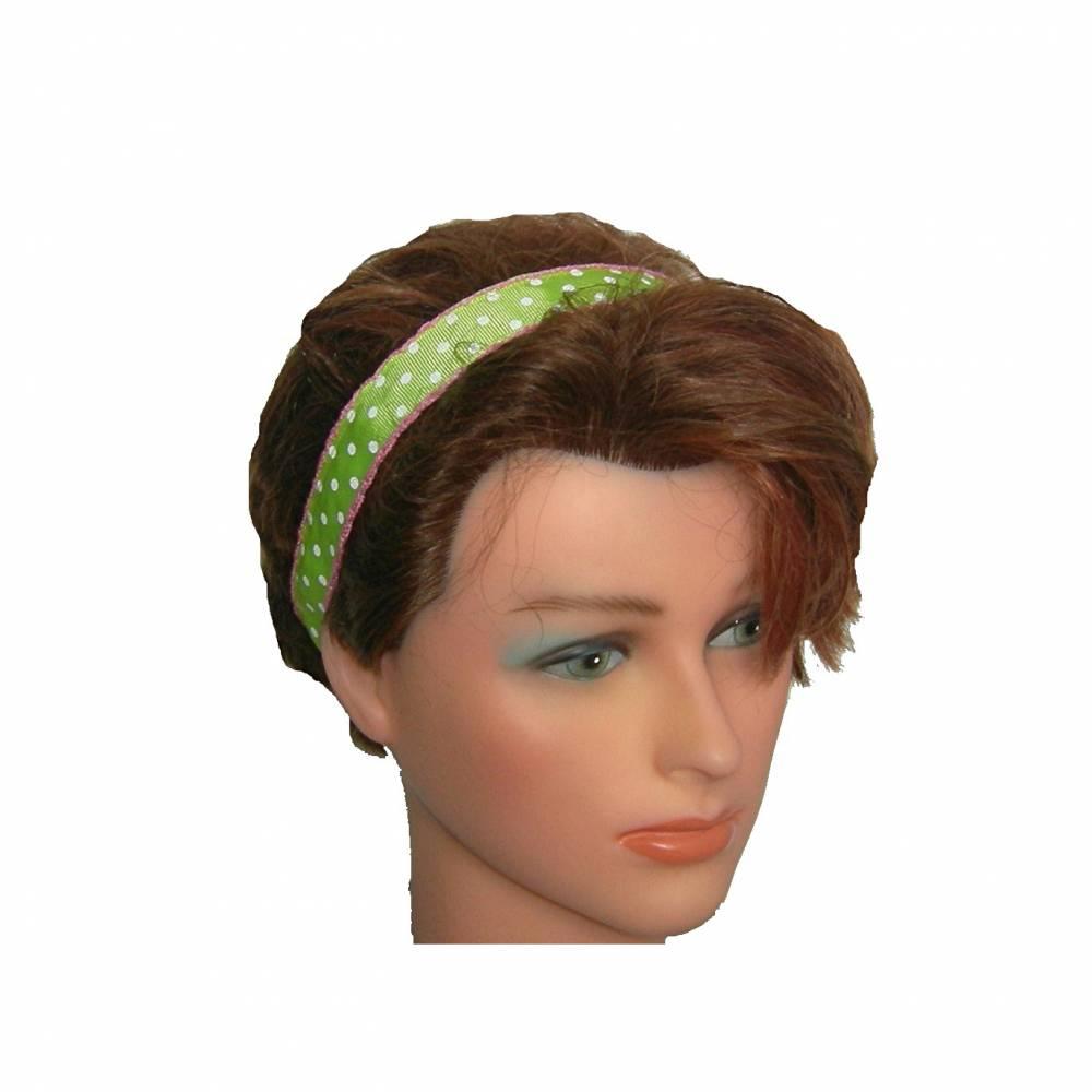 Haarband Punkte grün gepunktet Rockabilly Bild 1