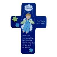 Schutzengelkreuz für Jungs Taufkreuz, Kinderkreuz Geschenk zur Taufe / Geburt Bild 2