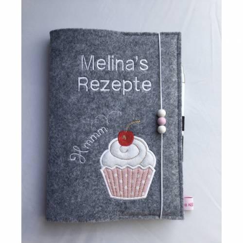 Rezeptbuch aus Filz A5